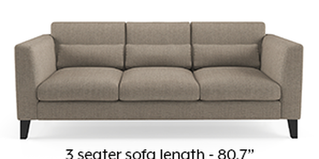 Lewis Sofa (Fabric Sofa Material, Regular Sofa Size, Soft Cushion Type, Regular Sofa Type, Master Sofa Component, Hazel Wood Brown)