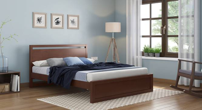 Andros Bed (Queen Bed Size, Dark Walnut Finish) by Urban Ladder