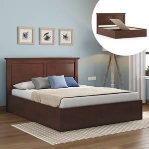 Somerset Storage Bed (Queen Bed Size, Dark Walnut Finish) by Urban Ladder