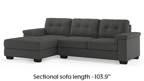 Turin Sectional Sofa (Moonlight Grey)
