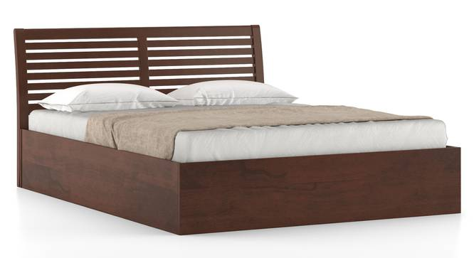 Vermont Storage Bed (Queen Bed Size, Dark Walnut Finish, Box Storage Type) by Urban Ladder