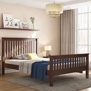 Athens Compact Bed (Dark Walnut Finish) by Urban Ladder