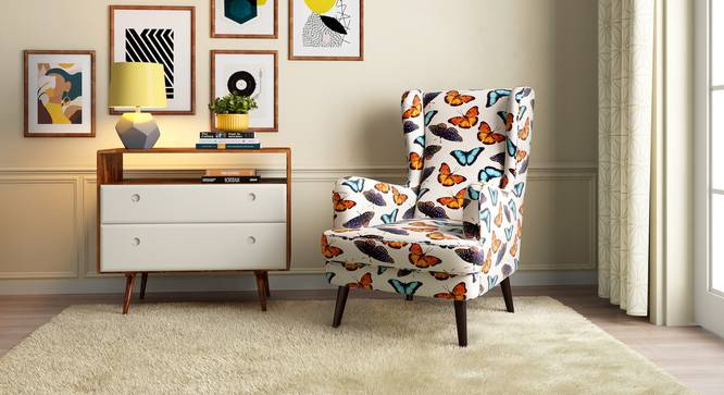 Genoa Wing Chair (Flutter Butterfly) by Urban Ladder - Design 1 Full View - 284352