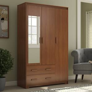 Hilton 3 door 2 drawer wardrobe cherry walnut lp