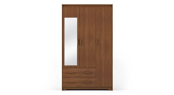 Hilton 3 Door Wardrobe (2 Drawer Configuration, Cherry Walnut Finish) by Urban Ladder
