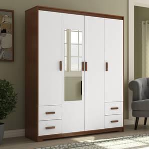 Miller 4 door 4 drawer wardrobe cherry walnut lp