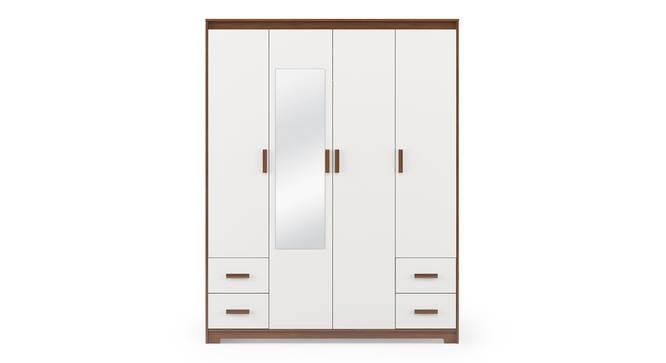 Miller 4 Door Wardrobe (4 Drawer Configuration, Cherry Walnut Finish) by Urban Ladder