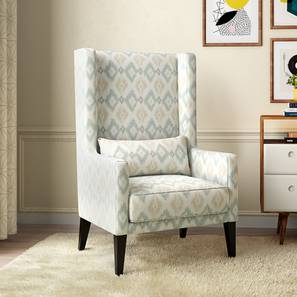 Morgen Wing Chair (Shoreline Ikat) by Urban Ladder