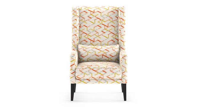 Morgen Wing Chair (Akimbo Geometric) by Urban Ladder