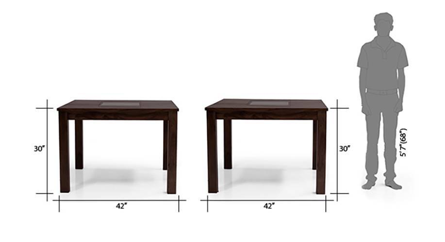 Brighton square dining table mahogany finish with groove 7