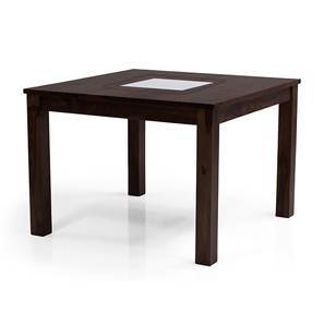 Brighton Square 4 Seater Dining Table (Mahogany Finish) by Urban Ladder