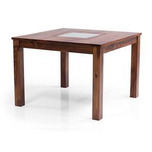 Brighton Square 4 Seater Dining Table (Teak Finish) by Urban Ladder