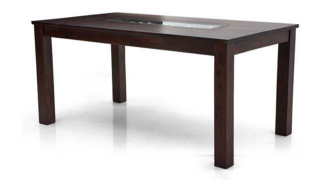 Brighton Large 6 Seater Dining Table (Mahogany Finish) by Urban Ladder
