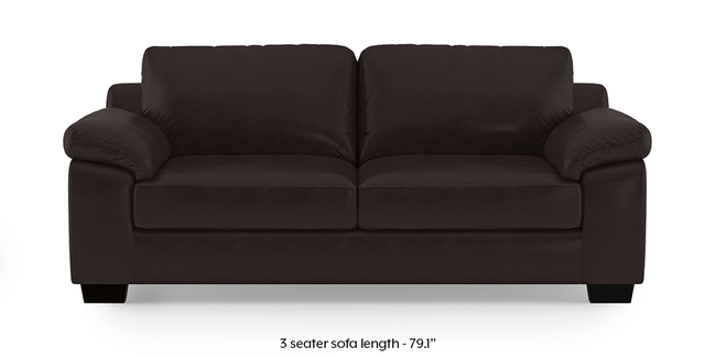 Esquel Leatherette Sofa (Dark Brown) (3-seater Custom Set - Sofas, None Standard Set - Sofas, Dark Brown, Leatherette Sofa Material, Regular Sofa Size, Regular Sofa Type)