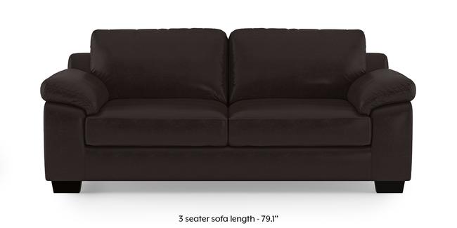 Esquel Leatherette Sofa (Dark Brown) (3-seater Custom Set - Sofas, None Standard Set - Sofas, Dark Brown, Leatherette Sofa Material, Regular Sofa Size, Regular Sofa Type)