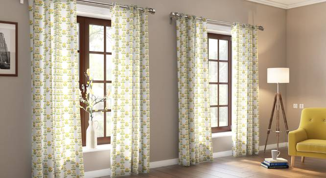 "Marigold Door Curtains - Set Of 2 (54"" x 108"" Curtain Size, Buti Pattern) by Urban Ladder"