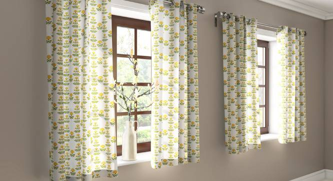 "Marigold Door Curtains - Set Of 2 (54"" x 60"" Curtain Size, Buti Pattern) by Urban Ladder"