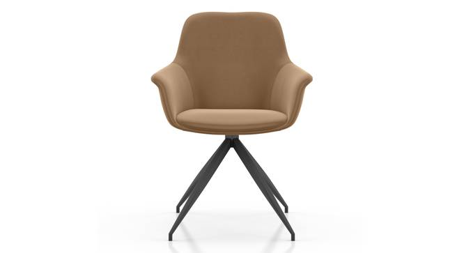 Hudson Swivel Accent  Chair (Brown) by Urban Ladder