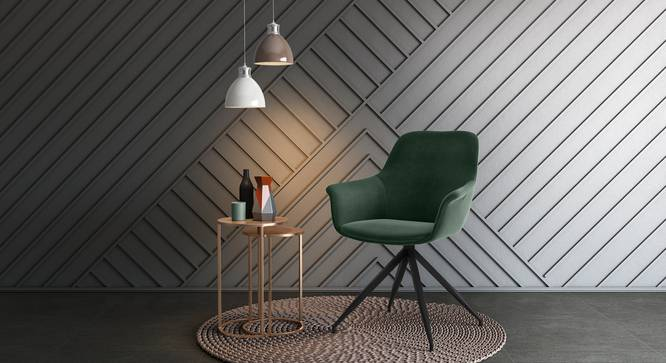 Hudson Swivel Accent  Chair (Green) by Urban Ladder
