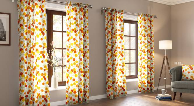 "Marigold Door Curtains - Set Of 2 (54""x84"" Curtain Size, Torana Pattern) by Urban Ladder"