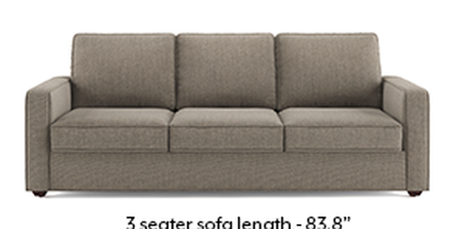Apollo Sofa Set (Fabric Sofa Material, Regular Sofa Size, Soft Cushion Type, Regular Sofa Type, Master Sofa Component, Regular Back Type, Regular Back Height, Hazel Wood Brown)