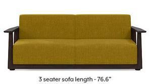 Serra Wooden Sofa - Mahogany Finish (Olive Green)
