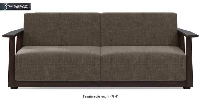 Serra Wooden Sofa - Mahogany Finish (Pine Brown) (2-seater Custom Set - Sofas, None Standard Set - Sofas, Fabric Sofa Material, Regular Sofa Size, Regular Sofa Type, Pine Brown)