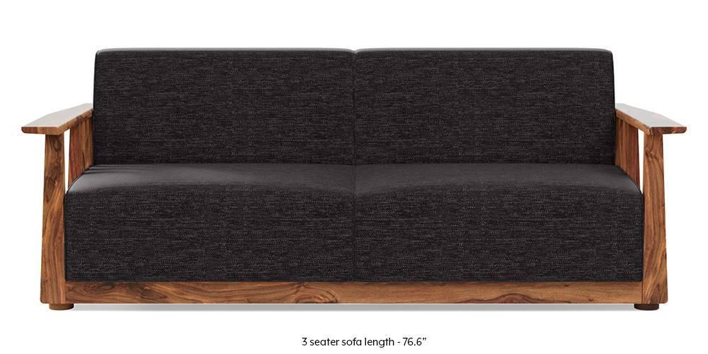 Serra Wooden Sofa - Teak Finish (Cosmic Grey) by Urban Ladder