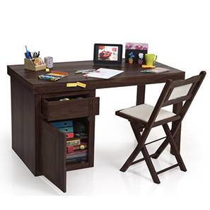 Bradbury - Axis Study Sets (Mahogany Finish) by Urban Ladder