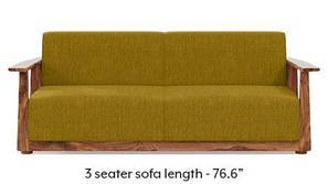 Serra Wooden Sofa - Teak Finish (Olive Green)
