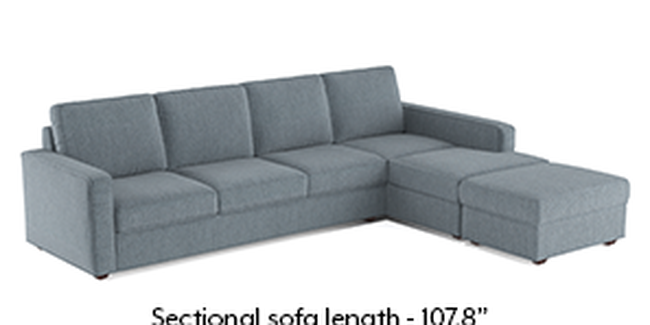 Apollo Sofa Set (Fabric Sofa Material, Regular Sofa Size, Soft Cushion Type, Sectional Sofa Type, Sectional Master Sofa Component, Regular Back Type, Regular Back Height, Chambray Blue)