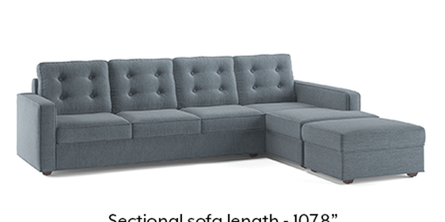 Apollo Sofa Set (Fabric Sofa Material, Regular Sofa Size, Soft Cushion Type, Sectional Sofa Type, Sectional Master Sofa Component, Tufted Back Type, Regular Back Height, Chambray Blue)