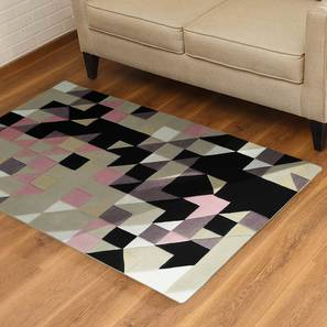 "Mandel Hand Tufted Carpet (36"" x 60"" Carpet Size, Purple & Black) by Urban Ladder"