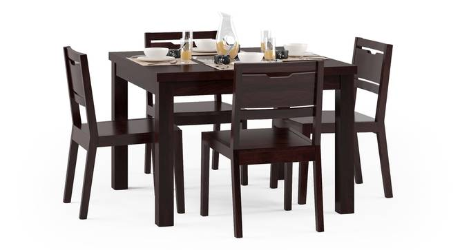 Brighton Square - Aries 4 Seater Dining Table Set (Mahogany Finish) by Urban Ladder