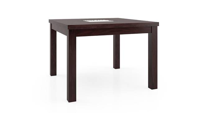 Brighton Square - Oribi 4 Seater Dining Table Set (Mahogany Finish, Burnt Orange) by Urban Ladder