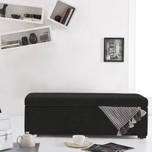 Carson Upholstered Storage Bench (Asphalt Grey) by Urban Ladder