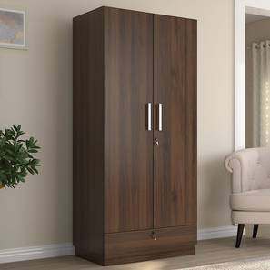 Bocado Wardrobe (Two Door, Columbian Walnut Finish) by Urban Ladder