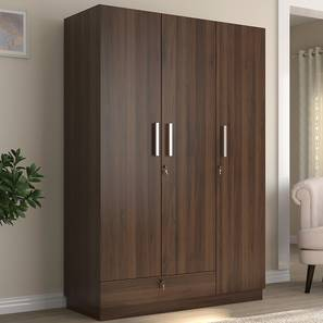 Bocado Wardrobe (Three Door, Columbian Walnut Finish) by Urban Ladder