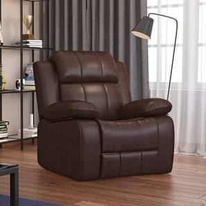 Robert Leather Recliner (Brown) by Urban Ladder