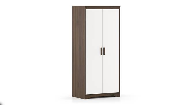 Miller 2 Door Wardrobe (Without Mirror, Without Drawer Configuration, 6 Feet Height, Columbian Walnut Finish) by Urban Ladder