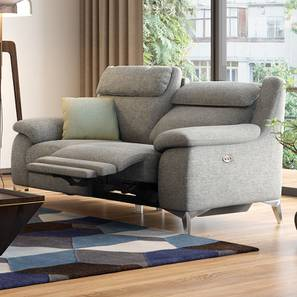 Emila Two Seater Motorized Recliner (Grey) by Urban Ladder