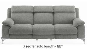 Emila Motorized Recliner Sofa Set (Grey)