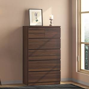 Bocado Tall Chest Of Six Drawers (6 Drawer Configuration, Columbian Walnut Finish) by Urban Ladder