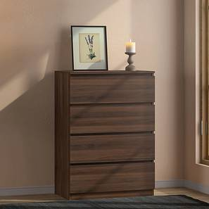 Bocado Compact Chest Of Four Drawers (4 Drawer Configuration, Columbian Walnut Finish) by Urban Ladder