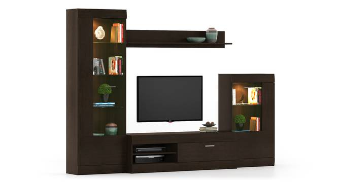Ferdinand Entertainment Unit Set 2 (Dark Oak Finish) by Urban Ladder