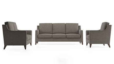 Abbey Sofa (Fabric Sofa Material, Regular Sofa Size, Soft Cushion Type, Regular Sofa Type, Master Sofa Component, Hazel Wood Brown) by Urban Ladder