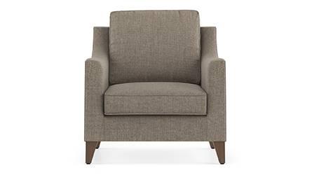 Abbey Sofa (Fabric Sofa Material, Regular Sofa Size, Soft Cushion Type, Regular Sofa Type, Individual 1 Seater Sofa Component, Hazel Wood Brown) by Urban Ladder