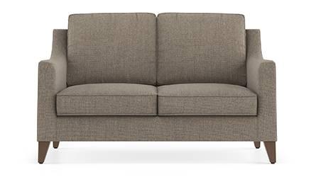 Abbey Sofa (Fabric Sofa Material, Regular Sofa Size, Soft Cushion Type, Regular Sofa Type, Individual 2 Seater Sofa Component, Hazel Wood Brown) by Urban Ladder