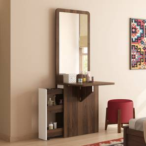 Darcy Space Saving Dresser (Left Aligned, Columbian Walnut Finish) by Urban Ladder