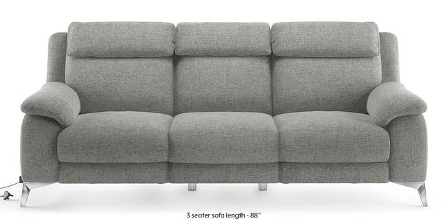Emila Motorized Recliner Sofa Set (Grey) (Grey, 3-seater Custom Set - Sofas, None Standard Set - Sofas, Fabric Sofa Material, Regular Sofa Size, Regular Sofa Type)